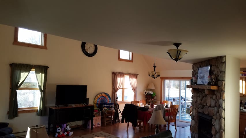 TV room and dining room