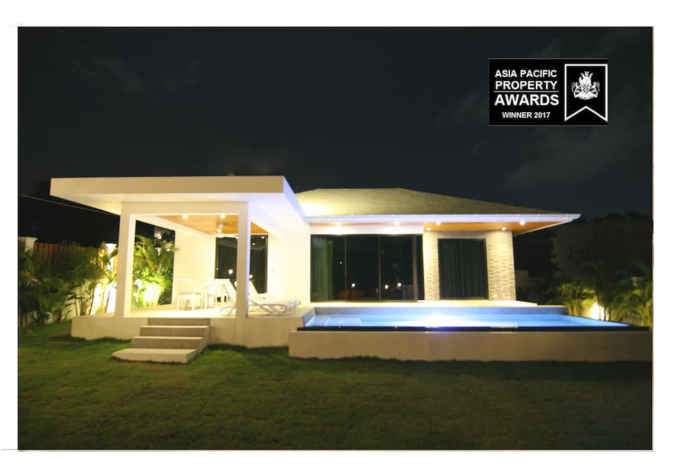 Designed by atypic architec villa for a memorable and unique experience .
