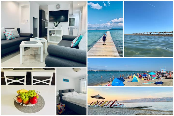 Thalassa - Apt (2+2), 10min walk from sandy beach