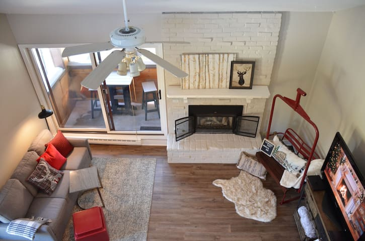 Walk to Quicksilver lift from your Breck loft!