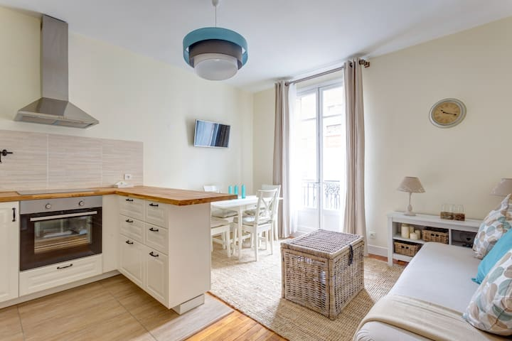 Lovely renewed 3-rooms, 10 mn Paris, cozy, quiet