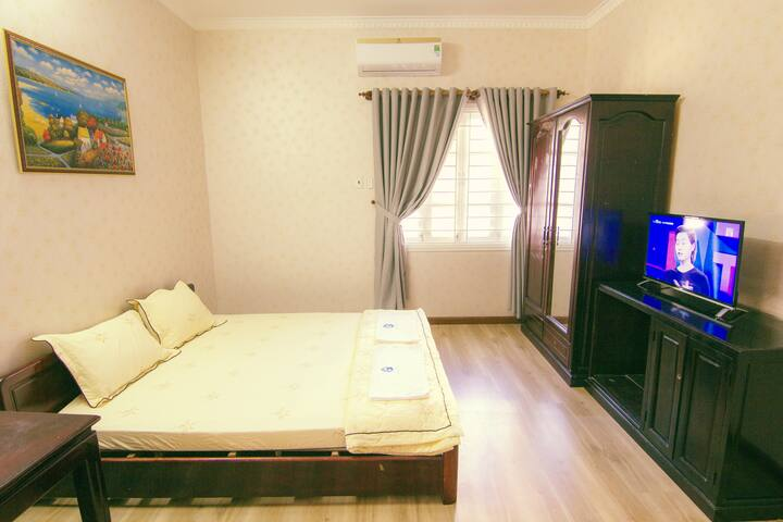 Bedroom 102 with a comfortable double bed for great night's sleep