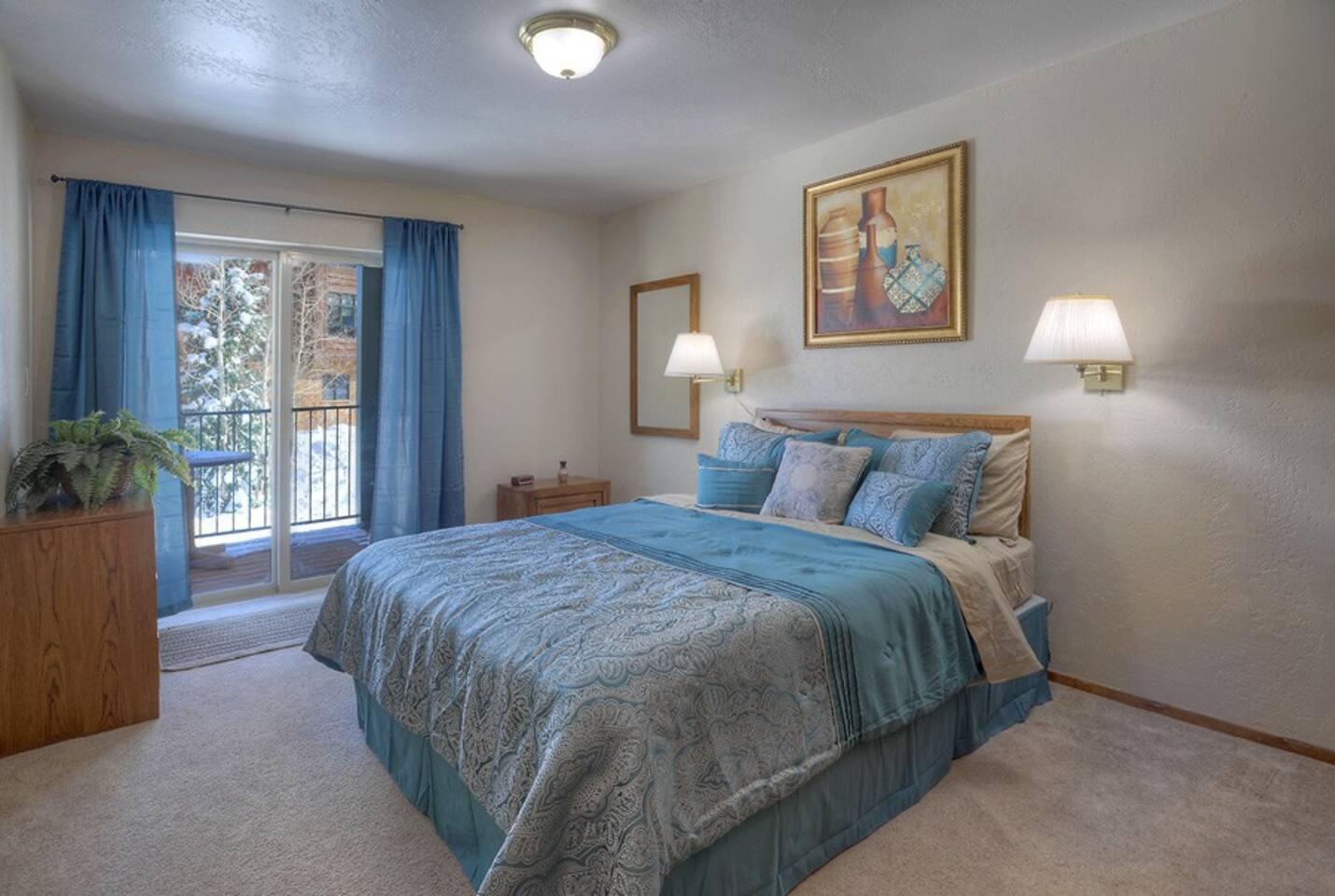 Durango Colorado vacation rental ski condo at Purgatory Resort master bedroom