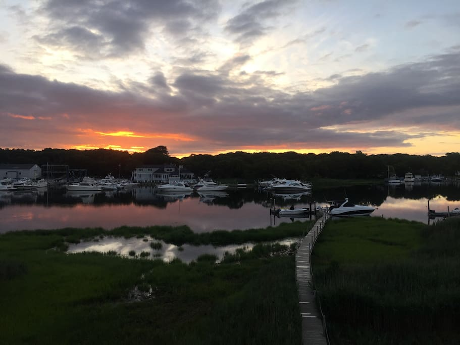 The perfect sunrise view from our deck.