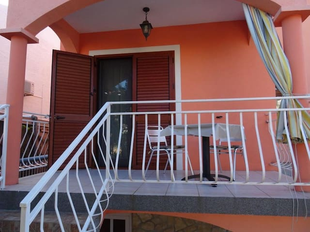 Studio flat with terrace Biograd na Moru (Biograd) (AS-860-a)