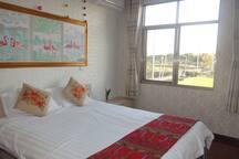独立房间 独立卫生间 1.8米的大床