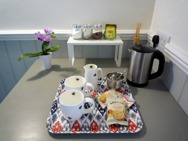 A well stocked refreshment tray
