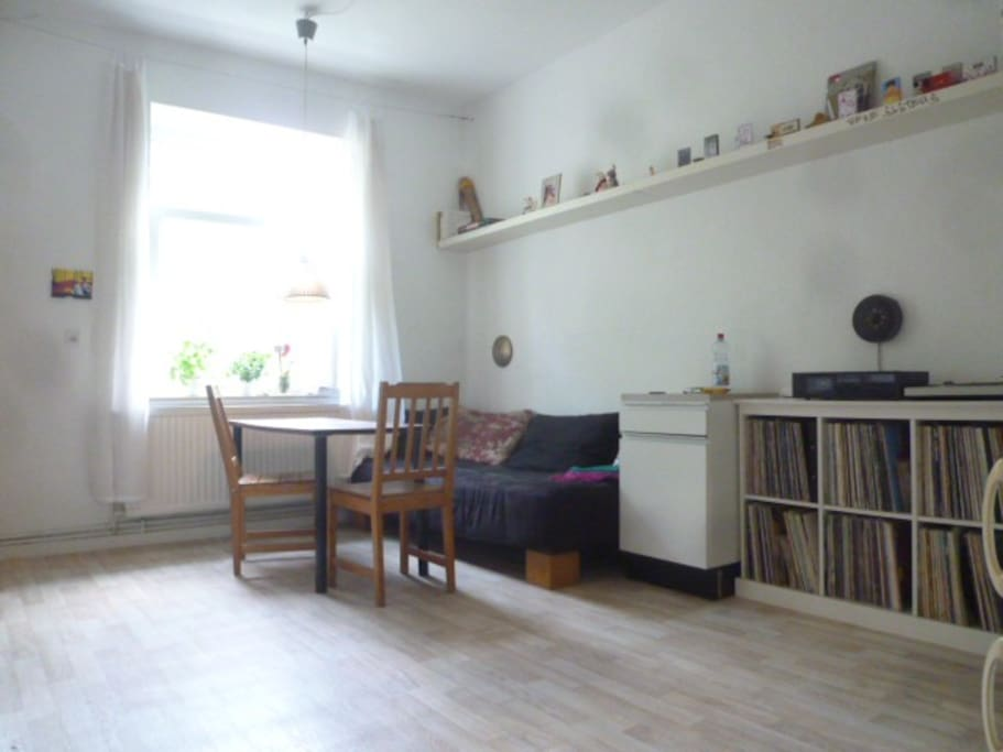 Kitchen with Couch and many music