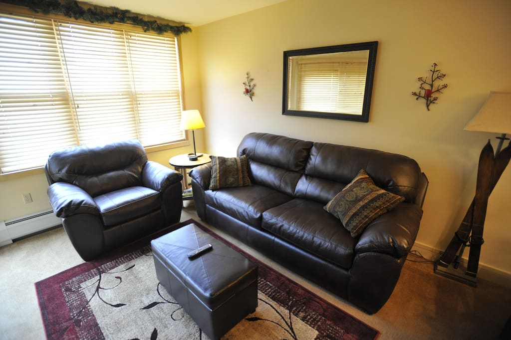 Spacious living room with comfy BRAND NEW furniture!