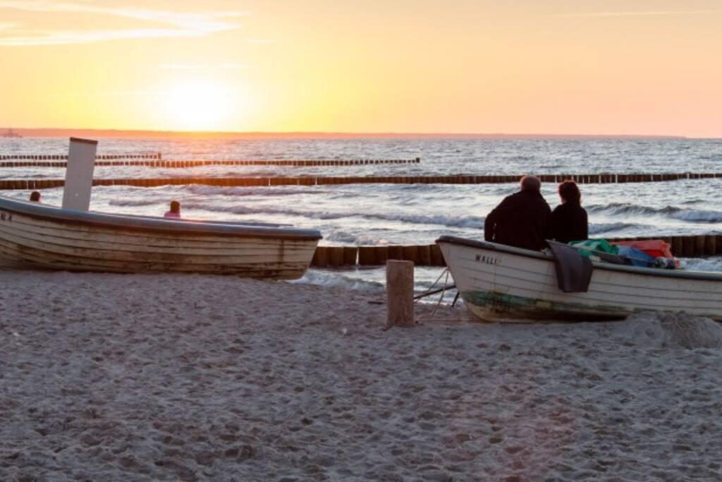 Sonnenuntergang am Strand von Zempin
