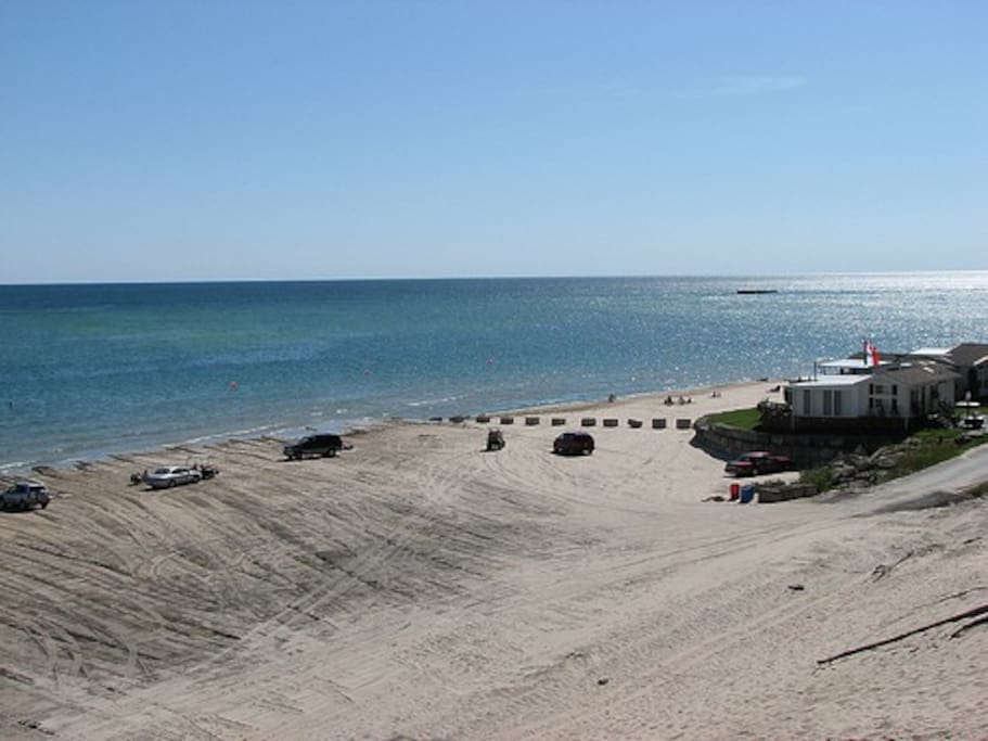 This is from the dune looking down onto Elco beach.