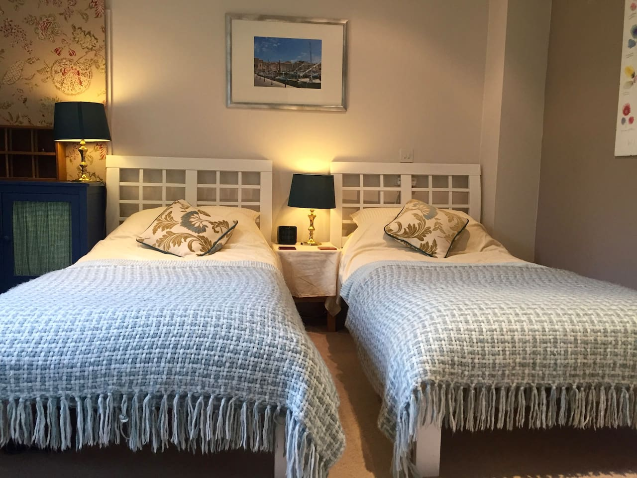 Twin or push together double bed
