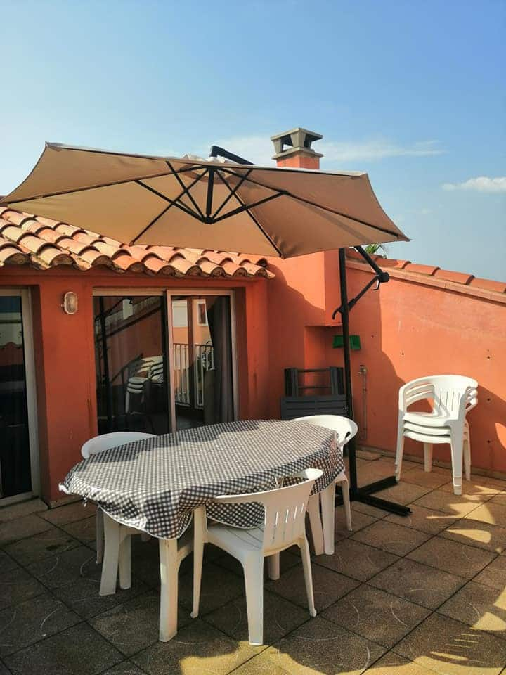 Barcares,grand hébergement,3mn plage, wifi,animaux