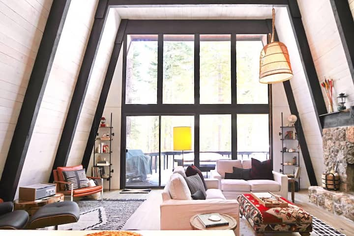 Mid Century Modern A-Frame Cabin at Northstar
