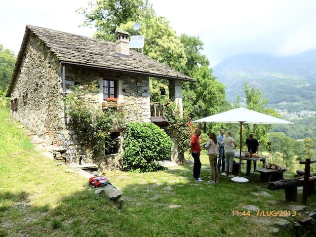 Cottage in the woods of Valchiusella