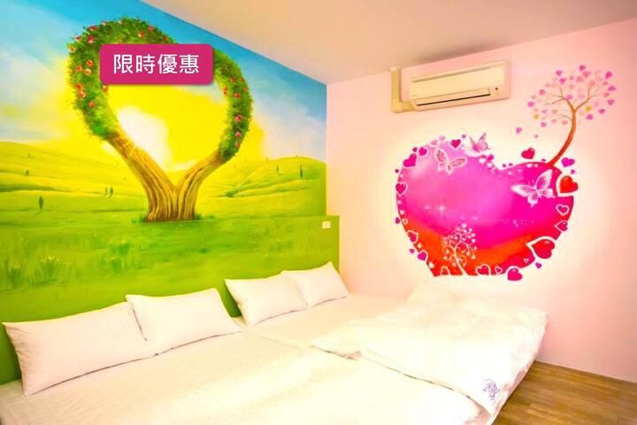 Pingtong Xinyuan 010︱Quadruple Room︱Free Parking