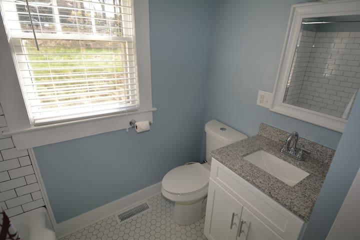 Granite sink and tile floors