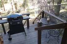 BBQ grill and sitting area to enjoy the views