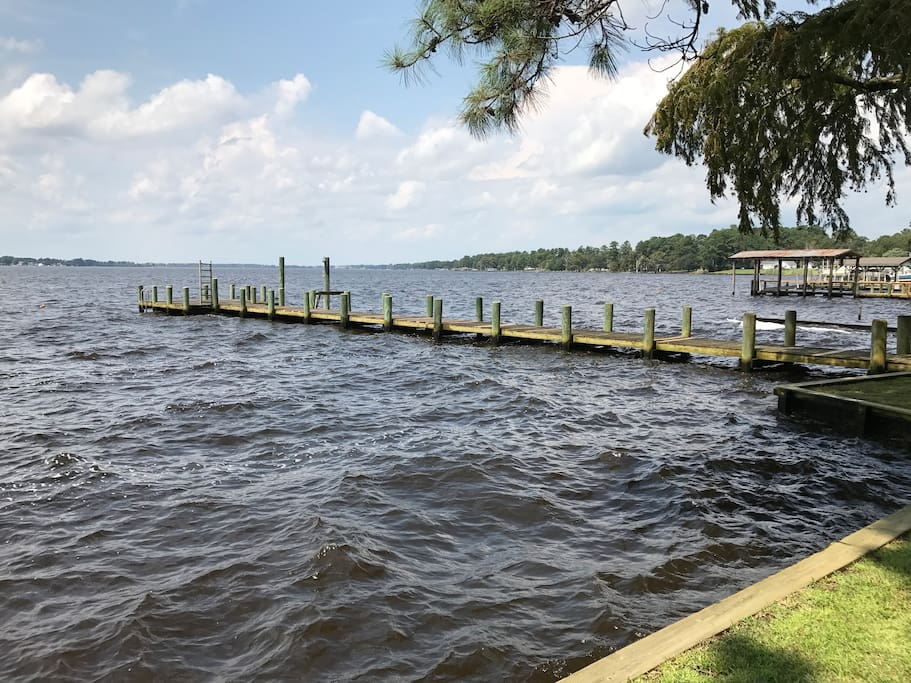 Waterfront with 120' pier. Enjoy the sunsets from the end of the dock.