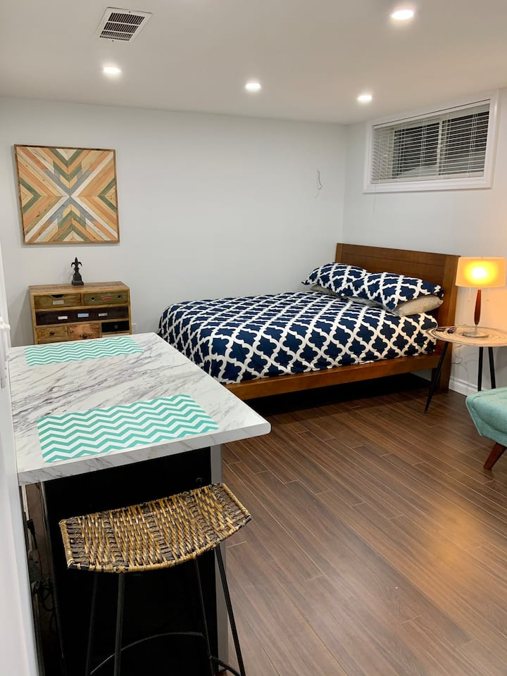 Brand new basement bachelor apartment!!