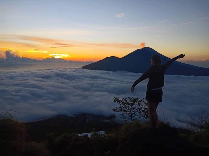 Mt Batur sunrise view