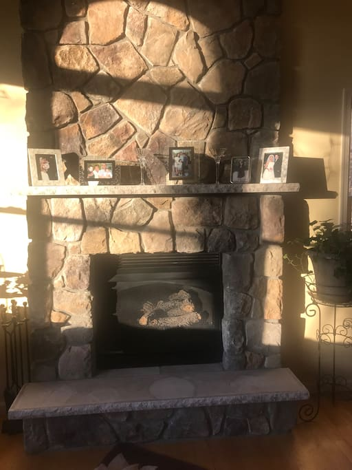 Propane Fireplace in great room keeps everyone cozy & relaxed on a chilly evening.