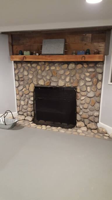 Private Stone Fireplace