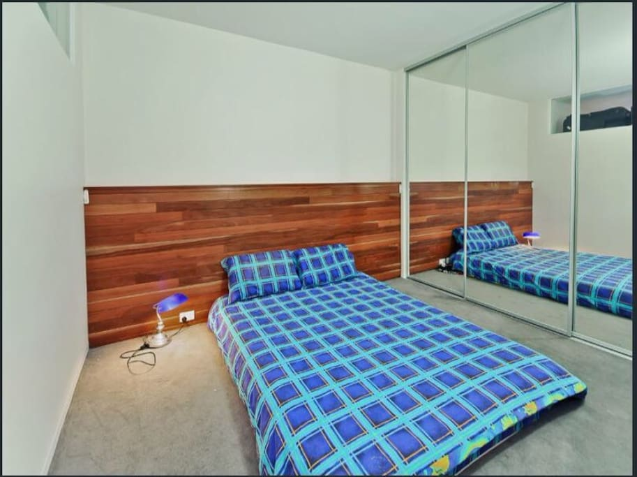 Bed room1, comfortable bed can accommodate for 2 people.