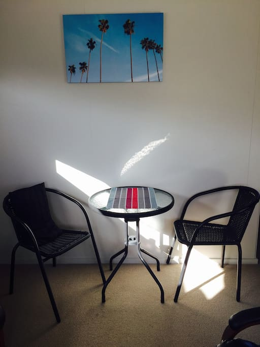 Dining area in living area