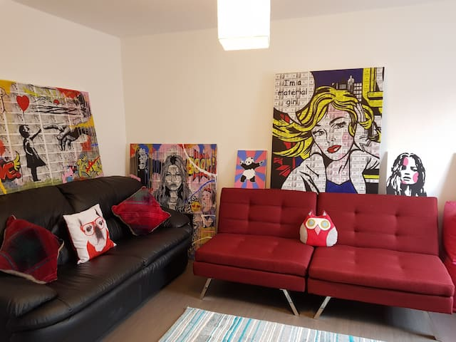 Modern Townhouse with Celebrity Inspired Art Work