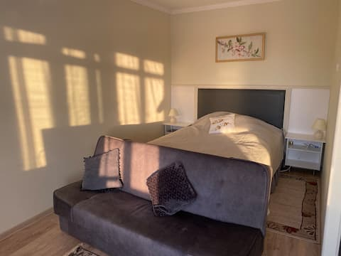 Sunny newly-renovated studio in centre of town