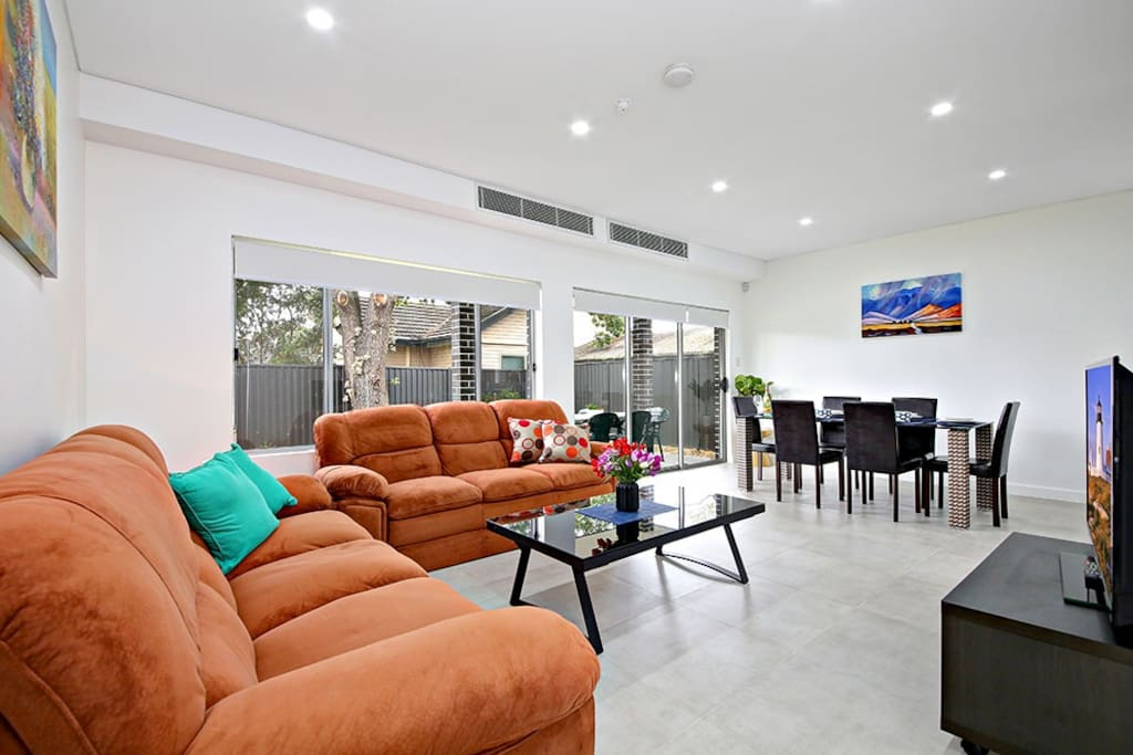 Open Plan Living and Dining Areas