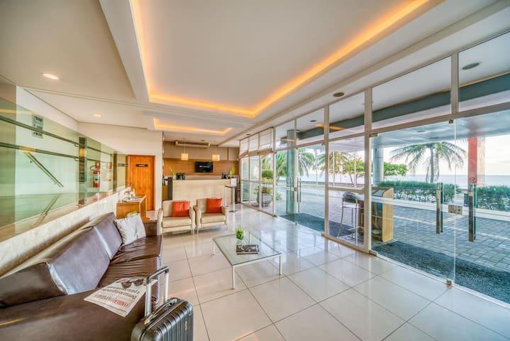 Flat 64m2, 2 quartos, sala, cozinha, varanda