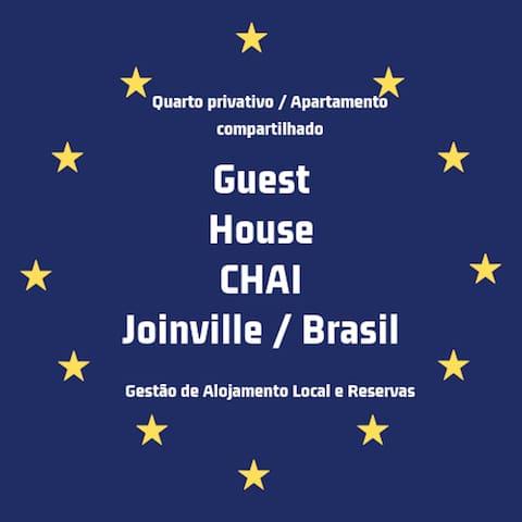 Quarto Aconchegante -Joinville 03-Via Gastronômica