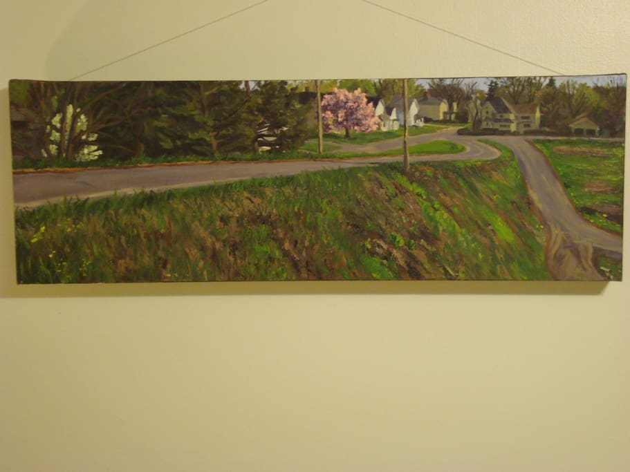 Original painting by a local artist gives the feeling of surrounding area