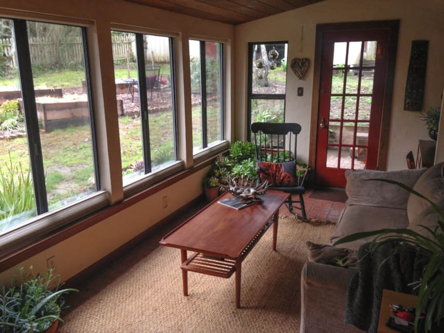 The sun room - great for morning coffee!
