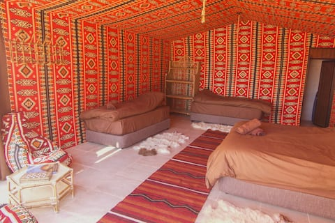 Arabian Nights 4 Person Ensuite Tent with Balcony
