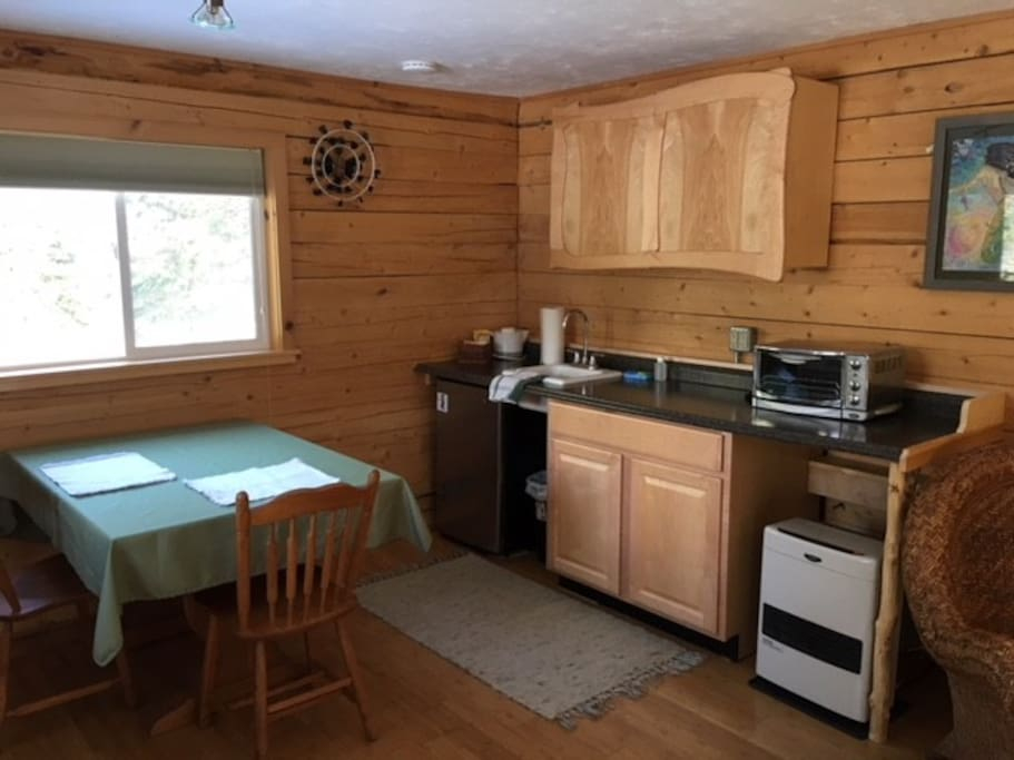 Compact kitchen and eating space