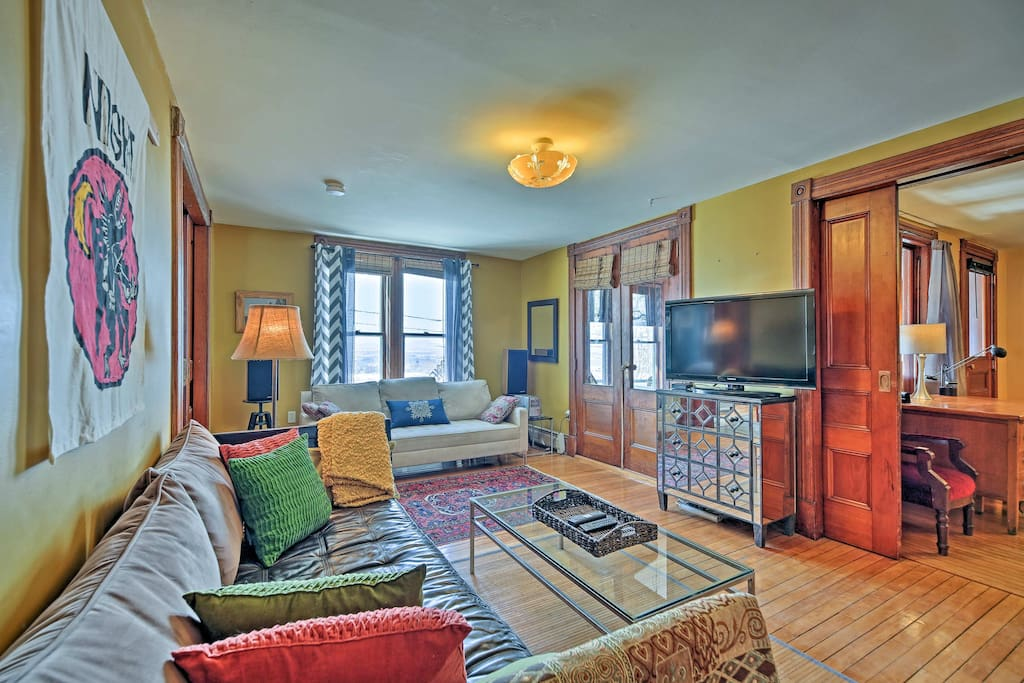 The spacious interior sleeps 6 and features high-end amenities.