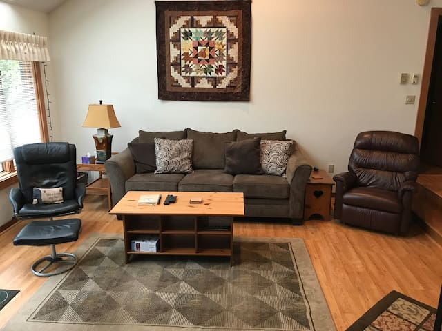 Upstairs family room-open to kitchen/dining