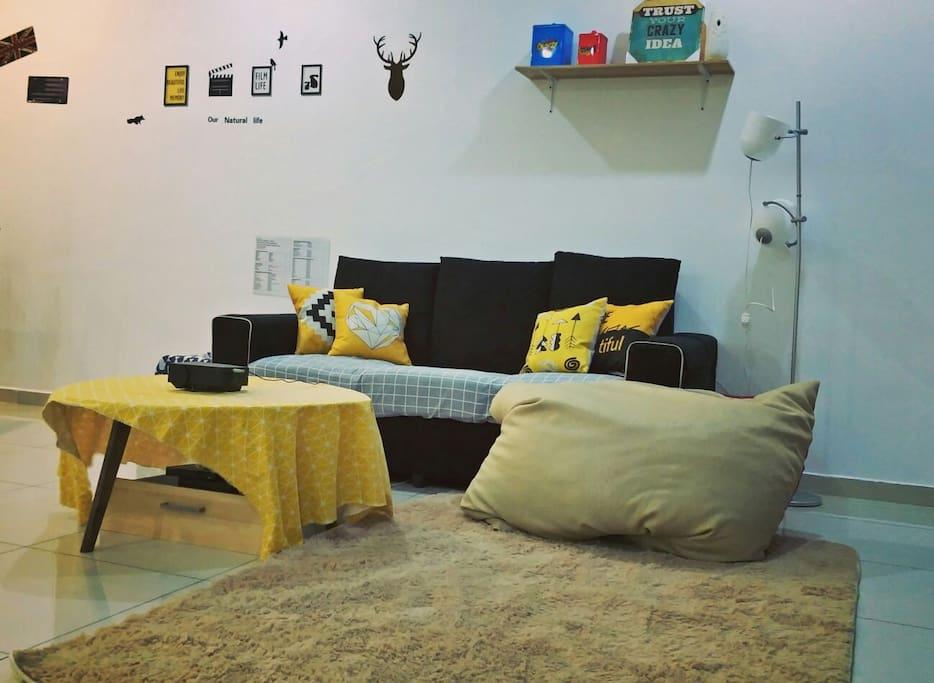 Comfy Sofa with beanbag
