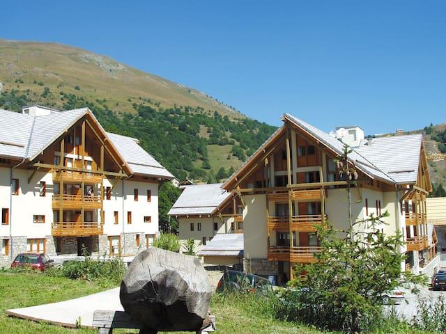 Super endroit ! Appartement cosy au pied des pistes avec balcon/terrasse