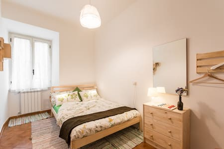 Double bed and PRIVATE Bathroom in San Giovanni. Free Wi-Fi. Strategic location to visit Rome, next to Tuscolana station (good to go to AIRPORT, TERMINI,TRASTEVERE) 3min from MetroA Ponte Lungo (the best to go to in few min to VATICAN, STORIC CENTER)