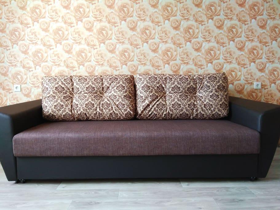 Новый диван-кровать, спальное место 150х200 см