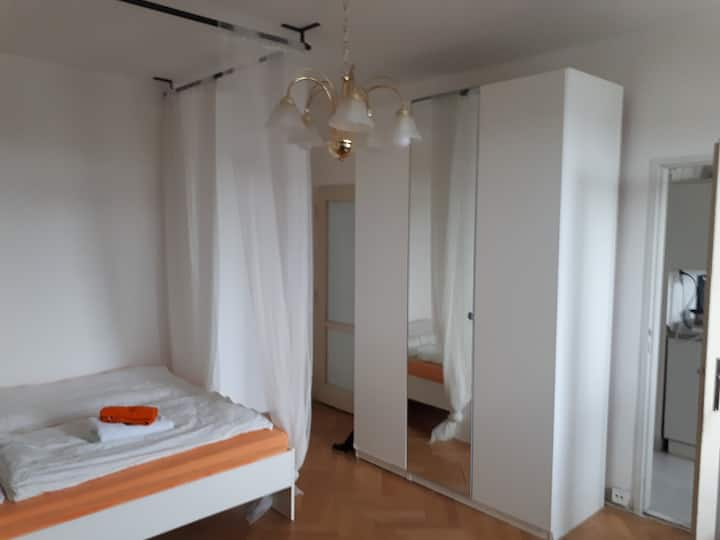 Cosy room in Zizkov with direct tram to center