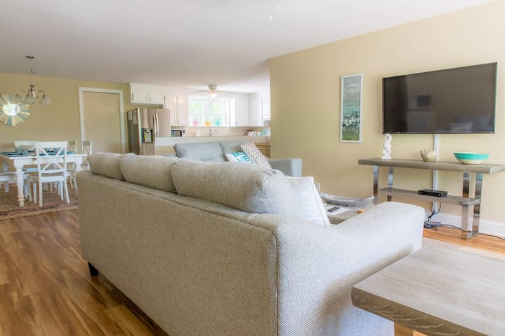 Great open living area, in this pet-friendly Folly Beach rental