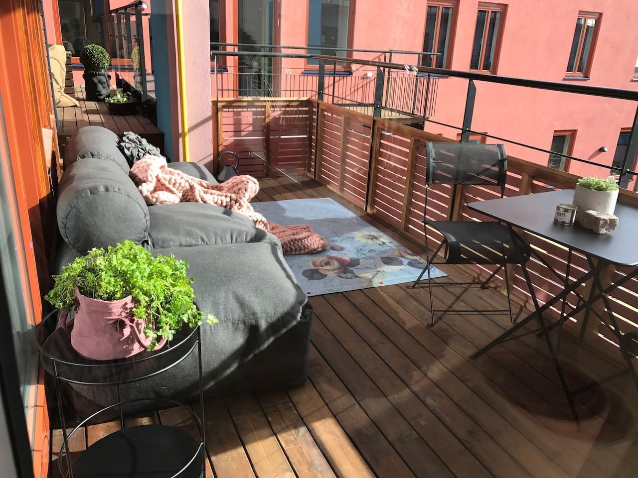Chill on the balcony
