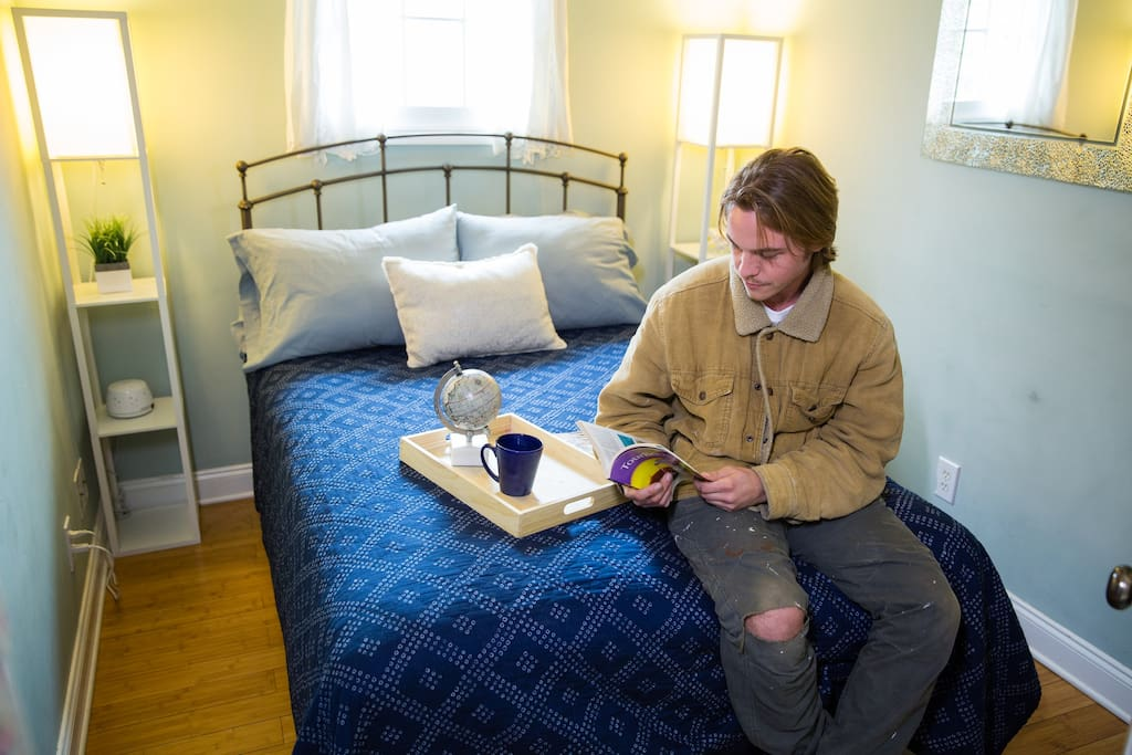 The Hemingway room can be a quiet escape from the historic and busy holy city just a few steps outside the property.