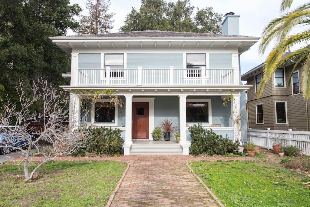 Historic Professorville neighborhood  Craftsman home.