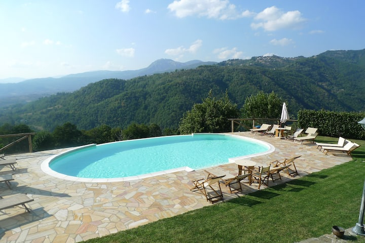 Newly renovated barn with pool and lovely views